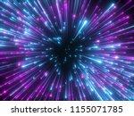 3d render  purple fireworks ... | Shutterstock . vector #1155071785