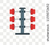 barbell vector icon isolated on ... | Shutterstock .eps vector #1155072652