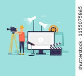 videography  a man with a... | Shutterstock .eps vector #1155075865