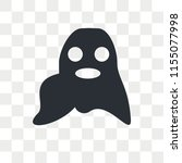 ghost vector icon isolated on... | Shutterstock .eps vector #1155077998