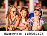 portrait of positive children...   Shutterstock . vector #1155081625