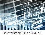 charts of stock market...   Shutterstock . vector #1155083758