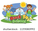 school kid back to school... | Shutterstock .eps vector #1155083992