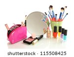 cosmetics near mirror isolated... | Shutterstock . vector #115508425
