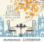 vector landscape in retro style ... | Shutterstock .eps vector #1155084535