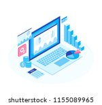 concept business strategy.... | Shutterstock .eps vector #1155089965