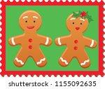 Boy Gingerbreadman And Girl...
