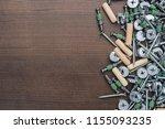 assorted screws for furniture...   Shutterstock . vector #1155093235