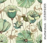 floral seamless pattern. lily...   Shutterstock .eps vector #1155093355