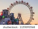 big ferris wheel at prater in... | Shutterstock . vector #1155093568