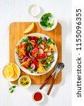 freshly cooked homemade...   Shutterstock . vector #1155096355