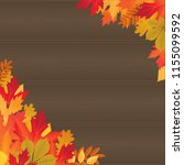 vector background with autumn... | Shutterstock .eps vector #1155099592