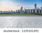 empty floor with modern... | Shutterstock . vector #1155101392