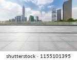 empty floor with modern... | Shutterstock . vector #1155101395