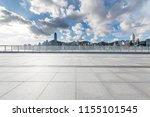 empty floor with modern... | Shutterstock . vector #1155101545