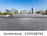 empty road with modern business ... | Shutterstock . vector #1155108742