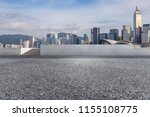 empty road with modern business ... | Shutterstock . vector #1155108775