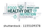 healthy eating  nutrition and... | Shutterstock .eps vector #1155109378