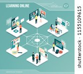 digital core  online learning ... | Shutterstock .eps vector #1155109615