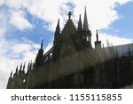old churches in cologne germany ... | Shutterstock . vector #1155115855