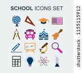 colored school icons set.... | Shutterstock .eps vector #1155115912