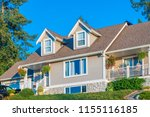 a perfect neighborhood. houses... | Shutterstock . vector #1155116185