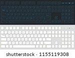 computer keyboard vector... | Shutterstock .eps vector #1155119308