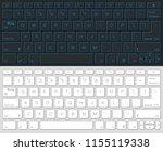 computer keyboard vector... | Shutterstock .eps vector #1155119338