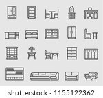 line icons set for home... | Shutterstock .eps vector #1155122362