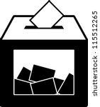 ballot voting box symbol | Shutterstock .eps vector #115512265
