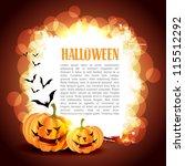 creative halloween vector... | Shutterstock .eps vector #115512292