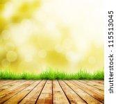 fresh autumn green grass with... | Shutterstock . vector #115513045