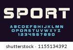 geometric sport font modern... | Shutterstock .eps vector #1155134392
