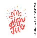hi five  congratulations.... | Shutterstock .eps vector #1155136798