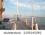 sail boat in open sea. luxury... | Shutterstock . vector #1155141592