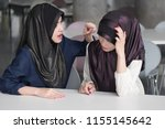 angry  upset  frustrated islam... | Shutterstock . vector #1155145642