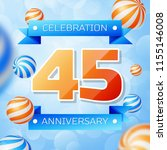 realistic forty five years... | Shutterstock .eps vector #1155146008