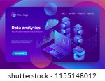 concept business analytics of... | Shutterstock .eps vector #1155148012