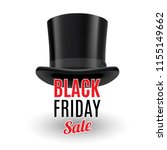 black top hat isolated on white ... | Shutterstock .eps vector #1155149662