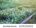 railroad tracks  railway  track ... | Shutterstock . vector #1155152422