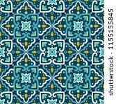 italian tile pattern vector...   Shutterstock .eps vector #1155155845