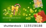 2019 vector magic golden... | Shutterstock .eps vector #1155158188