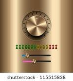 ui kit elements  amplifier gold ...