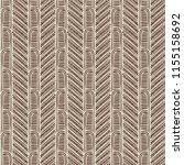 maori tribal pattern vector... | Shutterstock .eps vector #1155158692