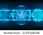 abstract artificial... | Shutterstock .eps vector #1155168238