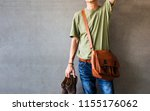 men's casual outfits style... | Shutterstock . vector #1155176062