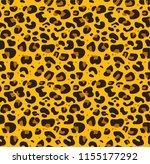 leopard pattern design  vector... | Shutterstock .eps vector #1155177292