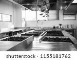 empty restaurant kitchen.... | Shutterstock . vector #1155181762