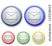 circle envelope icon   Shutterstock .eps vector #115518415