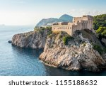view of the medieval fortress... | Shutterstock . vector #1155188632